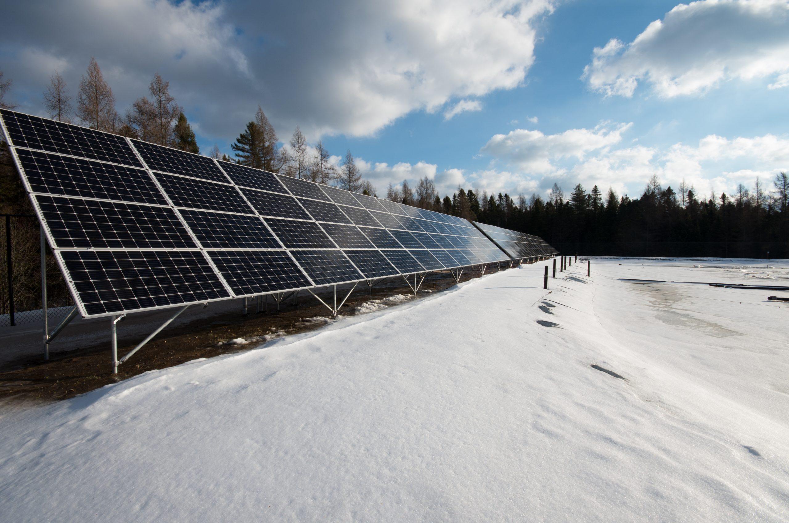Photo of solar panel array.