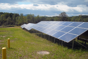 Solar array in Wadhams